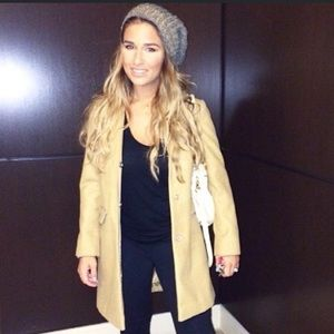 Topshop Tan Maisie Coat ASO Jessie James Decker